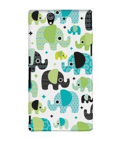95338d236 DailyObjects Aztec Elephant Case for Sony Xperia Z1-Blue Artwork Prints,  Framed Prints,