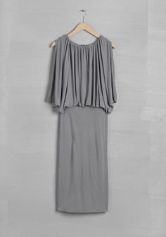 grey jersey draped dress | And Other Stories