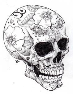 really nice b/w skull...