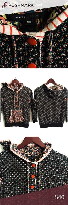 Marc Jacobs Sweater ▫️Marc Jacobs Sweater ▫️4 Clasp Button Closure  ▫️ True to Size (see measurements) ▫️Material: Cotton ▫️Color: Multi-Color  ▫️Great Preowned Condition Marc Jacobs Sweaters