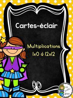 Gratuit! 2 ensembles de cartes-éclair sur les tables de multiplications Multiplication And Division, Cycle 3, Document, Afin, Impression, Voici, Education, School, Learning Multiplication Facts