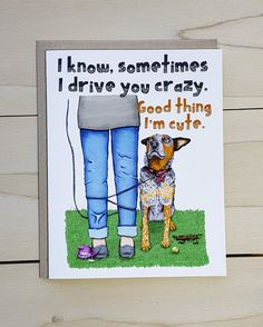 Australian Cattle Dog Fathers Day Card Blue Heeler by ArtworkbyAK