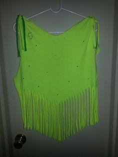 My first DIY fringe shirt!  (Back)