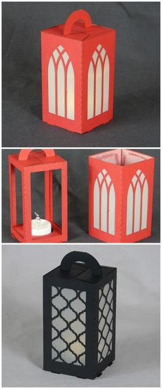 Final version of my #lasercut paper lantern. This version has a carrying handle.