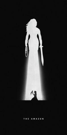 Affiches silhouettes de Khoa Ho - Wonder Woman