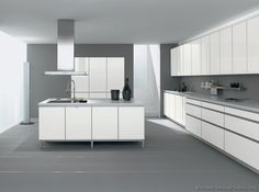 White Cabinets Chairs Grey Floor Pictures Of Kitchens Modern Kitchen Page 2 Design Ideas