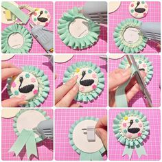#rosette #ロゼット #handmade #手作りロゼット #ribbon #awardribbon #diy #handcrafted Ribbon Rosettes, Diy Ribbon, Ribbon Work, Diy Crafts To Do, Cute Crafts, Paper Crafts, Kawaii Crafts, Diy Buttons, Idee Diy