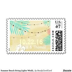Summer Beach String Lights Wedding Monogram Stamps Make All, How To Make, Wedding Postage Stamps, Monogram Wedding, String Lights, Summer Beach, Create Your Own, Best Gifts, Big
