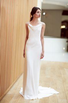 Minimalist brides must see Sabina Motasem s latest sleek wedding dresses a545ce02db8