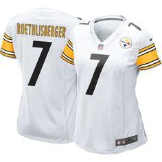 Nike Women's Away Game Jersey Pittsburgh Ben Roethlisberger #7, Size: Small, Team