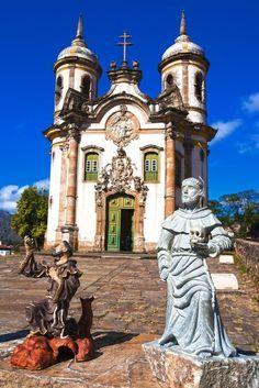Ouro Preto (antiga Vila Rica), cidade histórica do estado das Minas Gerais, Região Sudeste do Brasil.