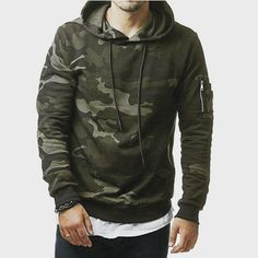 LeeLion 2018 New Camouflage Hoodies Men Cotton Sweatshirts Fashion Casual Sportswear Slim Fit Tracksuit Hip Hop Hooded Pullover Hoodie Sweatshirts, Pullover Hoodie, Hip Hop, Camouflage Sweatshirt, Camouflage Hoodies, Camo Hoodie, Military Camouflage, Army Camo, Camouflage Clothing
