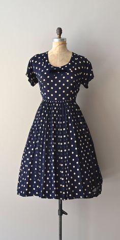 Pipette dress / 50s polka dot dress / vintage 1950s by DearGolden, $144.00