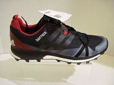 Adidas Men's Terrex Agravic Grey/Black/Red Trail Running Sneakers Shoes Size 11 #adidas #HikingTrail