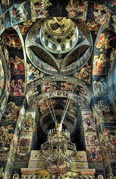 Inside the church - Galati, Romania