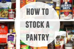 Picture of how to stock a pantry