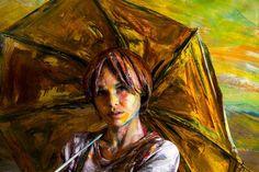 """Mi piace"": 3,343, commenti: 15 - Alexa Meade (@alexameadeart) su Instagram: ""@animi.design and her yellow umbrella."""