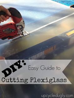 Aaron and Erin provide a tutorial on cutting plexiglass. The plexiglass will be used in their storm windows. How To Cut Acrylic, Window Inserts, Diy Greenhouse, Home Repairs, Reno, Diy Frame, Dremel, Plexus Products, Home Projects