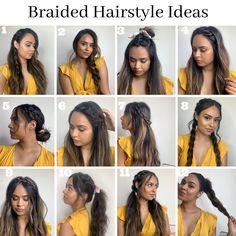 Work Hairstyles, Easy Hairstyles For Long Hair, Braids For Long Hair, Hairstyle Ideas, Box Braids, Easy Hair Braids, Easy Braided Hairstyles, Pretty Hairstyles For School, Easy Hair Up
