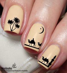 $3.45 AUD - Arabic Theme Camel Palm Nail Art Water Transfer Decal Sticker Wrap Tattoo 126 #ebay #Fashion