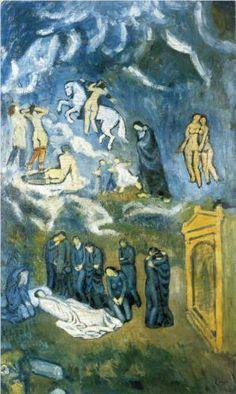 Evocation (The Burial of Casagemas) - Pablo Picasso, 1901