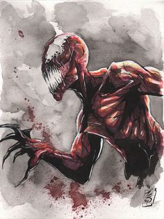 Marvel: Carnage by Matt Slay Comic Book Characters, Marvel Characters, Comic Character, Comic Books Art, Comic Art, Marvel Universe, Marvel Venom, Marvel Dc Comics, Venom Comics