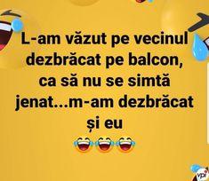 Vecinul la balcon - Viral Pe Internet Roman, Funny Quotes, Internet, Humor, Balconies, Funny Phrases, Funny Qoutes, Humour, Funny Photos