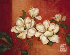 Magnolias Art Print by Pamela Gladding at Art.com