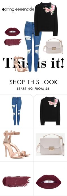 """""""#outfit #springoutfit #classyandfabulous"""" by gabriela-przystal on Polyvore featuring Topshop, Dolce&Gabbana and Gianvito Rossi"""