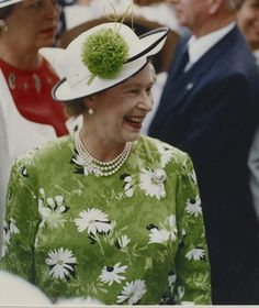 Queen Elizabeth,   not a good color for Her Majesty