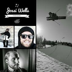 Jossi Wells - Freeski Slopestyle and Halfpipe Jossi Wells, Skiers, Olympic Team, Winter Olympics, Snowboarding, Kiwi, Eye Candy, Mens Sunglasses, Classy