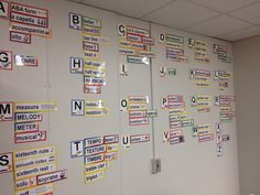 So - You've finally found the time to go to the extra effort to create a word wall just like in everyone else's classroom. Music Classroom, Classroom Decor, Music Teachers, Classroom Design, Music Word Walls, Music Bulletin Boards, Middle School Music, Cool Lettering, Elementary Music
