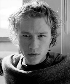 Young Heath Ledger in Gray Sweater