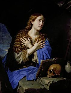 The Penitent Magdalene Painting by Philippe de Champaigne