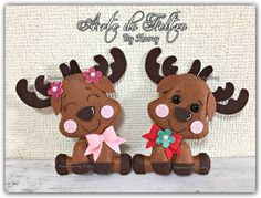 New Year's deer made of felt 0 Christmas Deco, Christmas Time, Christmas Crafts, Christmas Ornaments, Light Bulb Crafts, Felt Crafts Diy, Felt Toys, Baby Decor, Beautiful Christmas