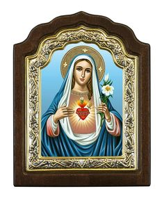 Immaculate Heart of Virgin Mary - Byzantine icon - Christianity Art Our Lady Of Sorrows, Byzantine Icons, Inner World, Client Gifts, Virgin Mary, Grief, Christianity, Catholic, Love Her