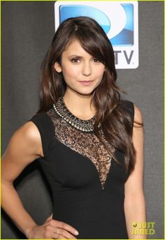 Nina Dobrev look gorgeous in black at DIRECTV's Super Saturday Night event as part of the 2013 Super Bowl Weekend on Saturday night