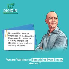 Is he stepping down to create more possibilities? Share your thoughts on this. . . . . #digidir #jeffbezos #JeffBezosAmazon #Bezos #amazon #amazonceo #andyjassy #AWS #amazonwebservices #Alexa #amazonprime #ecommerce #ecommercebusiness #ecommercemarketing