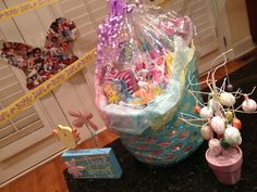 Easter Basket by Chrissy - Make your own Easter Baskets and fill them with items that you know the kids will love rather than buying the pre-made baskets - Make it personal! Make Your Own, Make It Yourself, How To Make, Basket Ideas, Easter Baskets, Fill, Stuff To Buy
