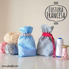 Tutorial: Cómo hacer bolsitas de tela con costura francesa