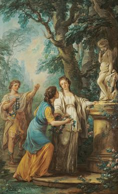 Carle Van Loo, Offering to Love, 1761. Oil on canvas. 63 3/16 x 38 7/8 in. The Ella Gallup Sumner and Mary Catlin Sumner Collection Fund, 1979.186.