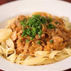Try this Veal Stroganoff recipe by Chef Justine Schofield . This recipe is from the show Everyday Gourmet.