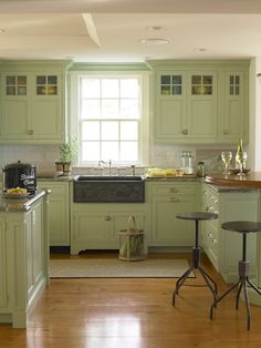 Country Living kitchen.  Same color we used in our kitchen.  Just beautiful!