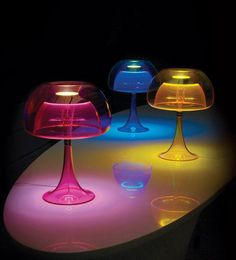 Perfectly on trend for 2012, the Aurelia lamp by Qisdesign is hot! These neon-colored table lamps are inspired by the jellyfish, both in their alluring shape as well as their transparent double-acrylic body and shades, which are LED-illuminated from within to cast your whole room in a gentle glow. The three-way touch-sensitive dimmer lets you control the lighting level to set the mood in your space. Choose from pink, orange and aqua. Check out the Aurelia lamp by visiting Qisdesign.