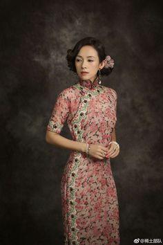 章子怡的《胭脂扣》女主角旗袍造型,獲得影迷盛讚。(取材自微博)