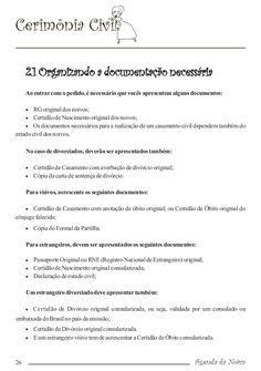 Agenda da Noiva para imprimir