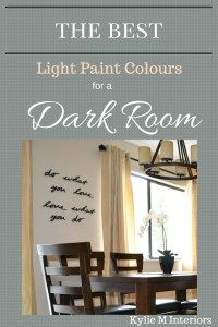 the light paint colours for a dark room or family room