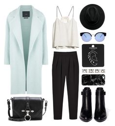 """Ice Blue Coat or Jacket"" by eva-jez ❤ liked on Polyvore featuring MaxMara, Monki, H&M, Givenchy, Alexander Wang, Casetify, Maison Margiela, Topshop, ASOS and women's clothing"