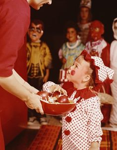 Youngsters trick-or-treating, c. 1960s. #vintage #Halloween #costumes