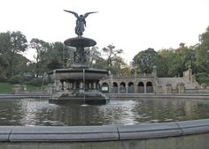 Bethesda Fountain and Terrace - 'Angel of the Waters' Fountain -- Central Park, New York City, New York     #MuseumPlanet #travel